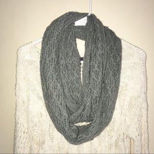 ✨2/$10✨Gray Crochet Infinity Scarf